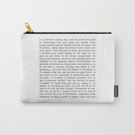 The Wisdom of Buddha Carry-All Pouch