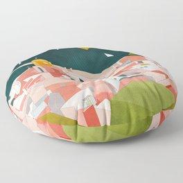 south france coast landscape Floor Pillow