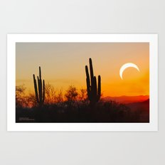 Partial Annular Eclipse from Cave Creek Arizona II Art Print