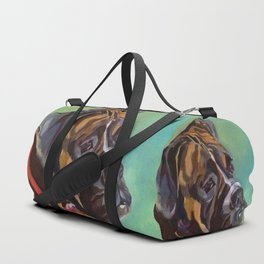 Boxer Dog Keeley Pet Portrait Duffle Bag