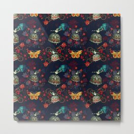 Barroque floral by Vitória Metal Print