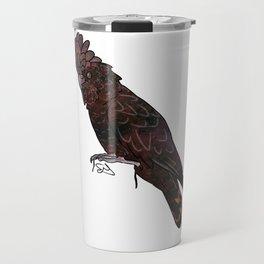 Space Galaxy Black Cockatoo Travel Mug