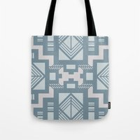 gatsby Tote Bags featuring gatsby blue by Kozza