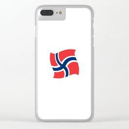 flag of norway 14 – Chalk version  snow,scandinavia,scandinavian,norwegian,oslo Clear iPhone Case