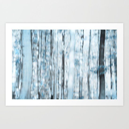 trees bleu Art Print