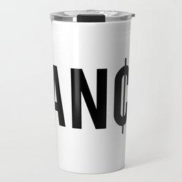 Fancy Cent Symbol Typography Travel Mug