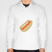 hot dog Hoodies featuring Hot Dog by Andrew Lynne
