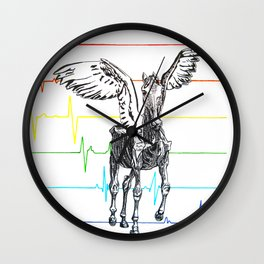 Pegasus Flatlining Wall Clock