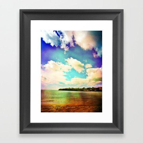 Rainbow Paradise Framed Art Print