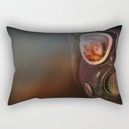 Fire in the eyes Rectangular Pillow