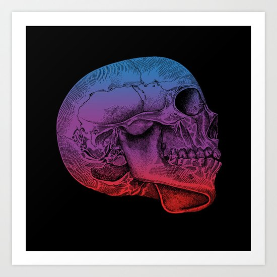 Rainbow Skull Joy Art Print
