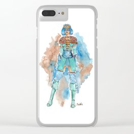 Skyrim's Queen of warriors by watercolor Clear iPhone Case
