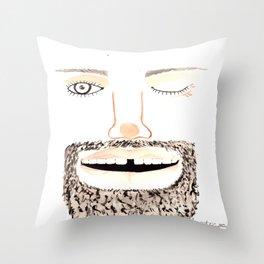 Beardy1 Throw Pillow
