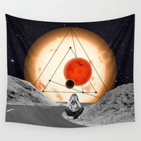 alone Wall Tapestries featuring Alone by Cs025