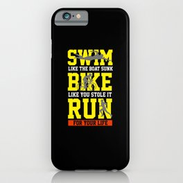 Triathlon Gifts iPhone Case