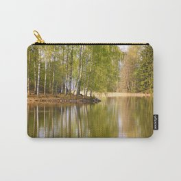 It's almost summer! Reflection Tree Lake #decor #society6 Carry-All Pouch