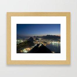 Rio de Janeiro by night Framed Art Print