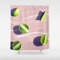 fruit Shower Curtains featuring fruit 10 by LEEMO