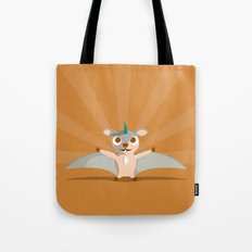 The Dino-zoo: Flying squirrel-saurus Tote Bag