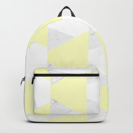 Yellow White Marble Triangles Backpack