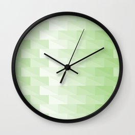 Triangles in green tones with 3d depth effect Wall Clock