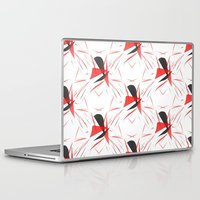 contemporary Laptop & iPad Skins featuring Contemporary Abstract by lillianhibiscus