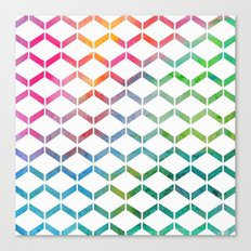 Rainbow Geometric Canvas Print
