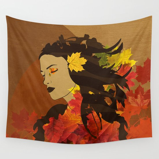 Portrait in Autumn... Wall Tapestry