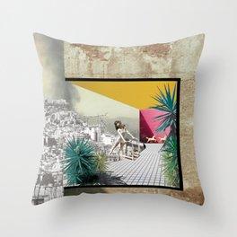 Snorkeling (Urban_Crisis_Resort#3) Throw Pillow