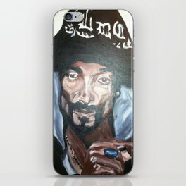 Snoop Dogg Fingerpainted Acrylic Painting iPhone Skin