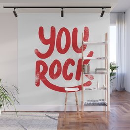 You Rock Vintage Red Wall Mural