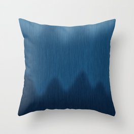 Wavy Digital Denim Blue Jean Pattern Throw Pillow
