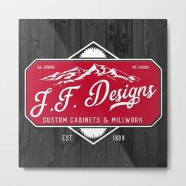 JF Designs Custom Cabinets & Millwork Metal Print