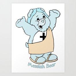 Messiah Bear Art Print