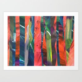 Abstract Collage Art Print