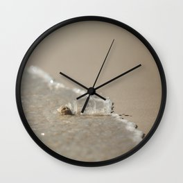 Seashell in the Waves Wall Clock
