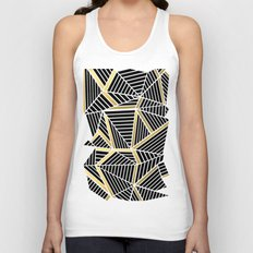 Ab Lines 2 Gold Unisex Tank Top