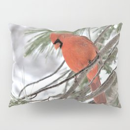 Snow Globe Cardinal (square) Pillow Sham