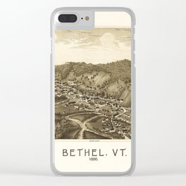 Aerial View of Bethel, Vermont (1886) Clear iPhone Case