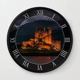 Golden Castle Wall Clock