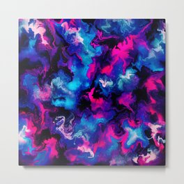 Pink and blue Marble Metal Print
