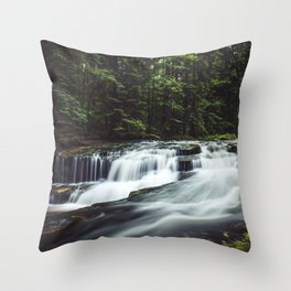 Szklarka creek - Landscape and Nature Photography Throw Pillow