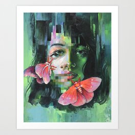 Chroma Key Art Print
