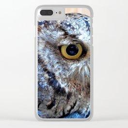 Western Screech Owl profile Clear iPhone Case