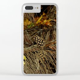 Autumn Firs Clear iPhone Case