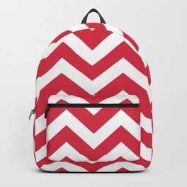 Rusty red - fuchsia color - Zigzag Chevron Pattern Backpack