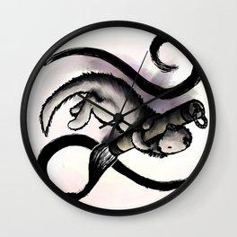 Mink Sumi-e Logo Wall Clock
