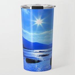 Beach In Blue Travel Mug