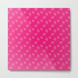Fuchsia And White Queen Anne's Lace pattern Metal Print