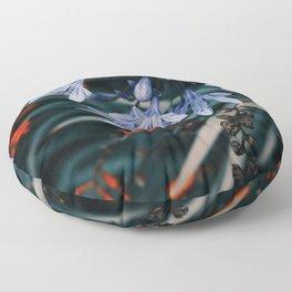 Vibrant Floral Garden Floor Pillow